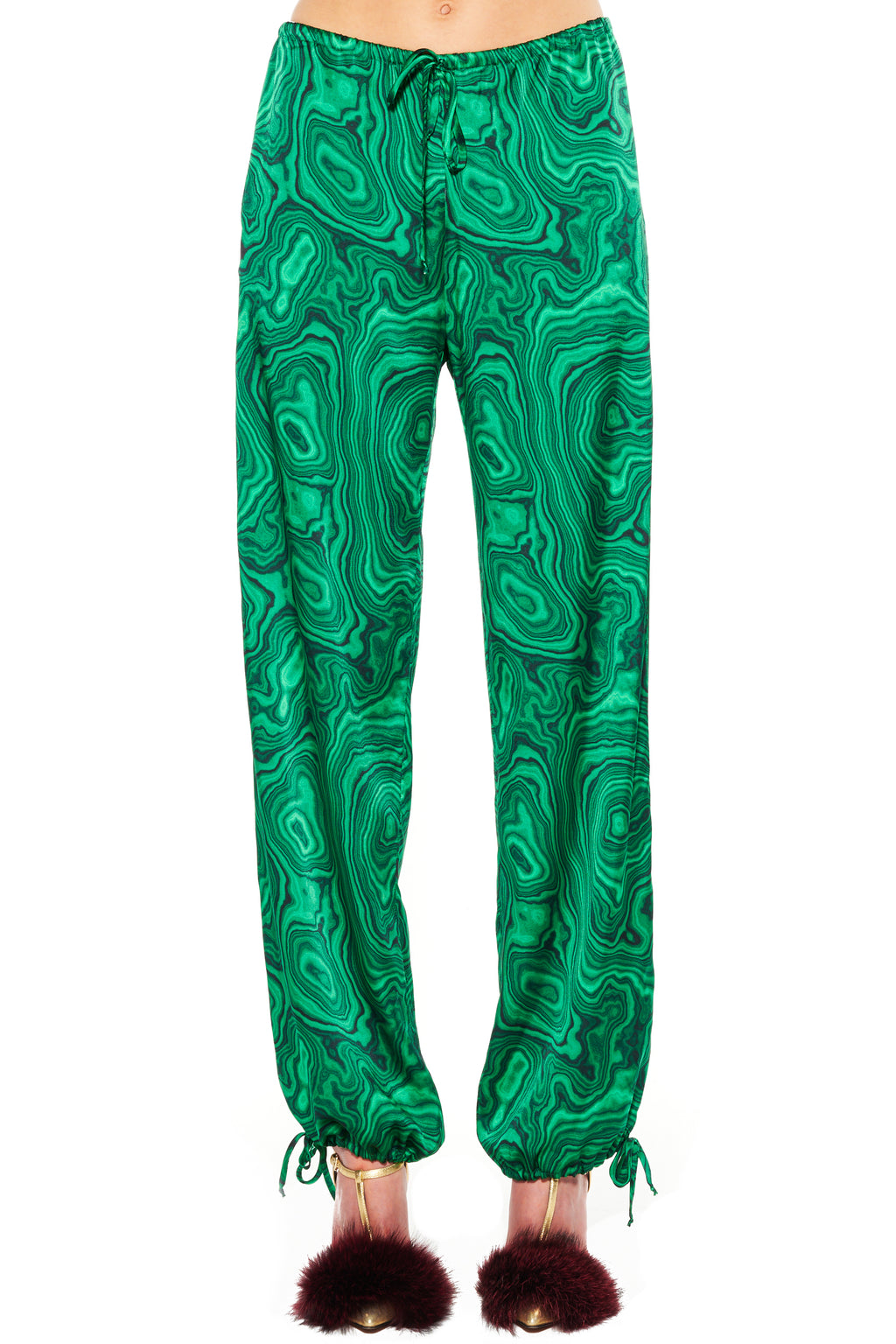 """HIGH AS A MALACHITE"" DRAWSTRING PANTS - Women's Bottoms - Libertine"