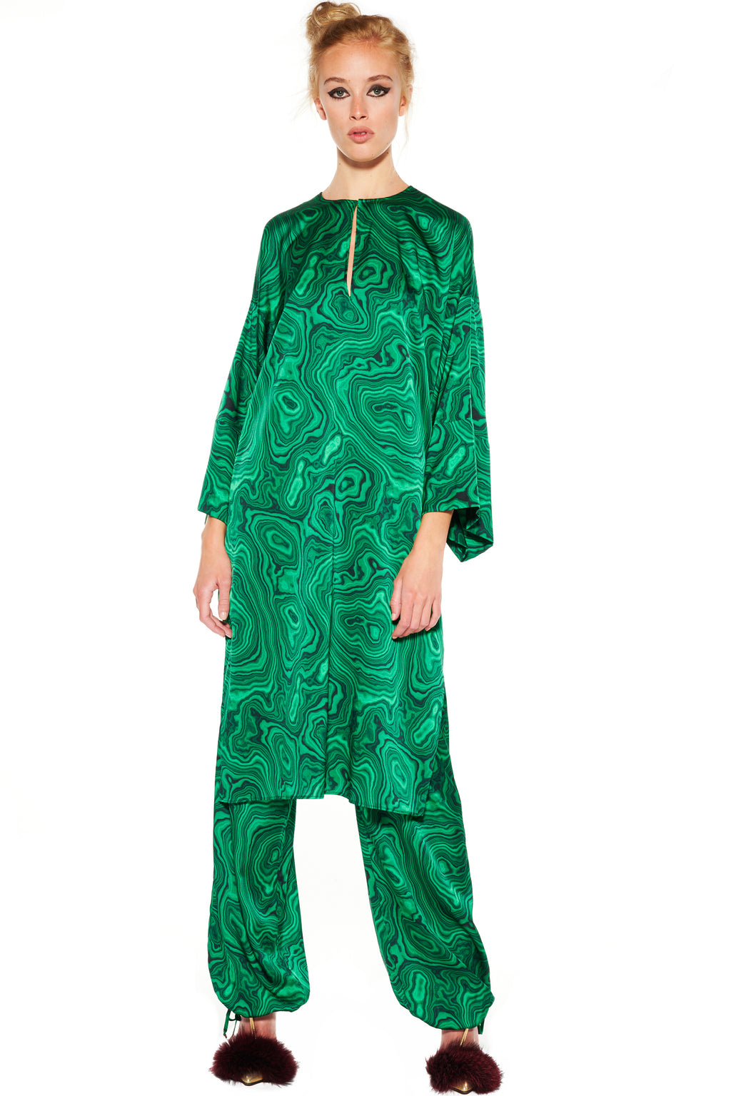 'HIGH AS A MALACHITE' TUNIC - Web Exclusives - Libertine