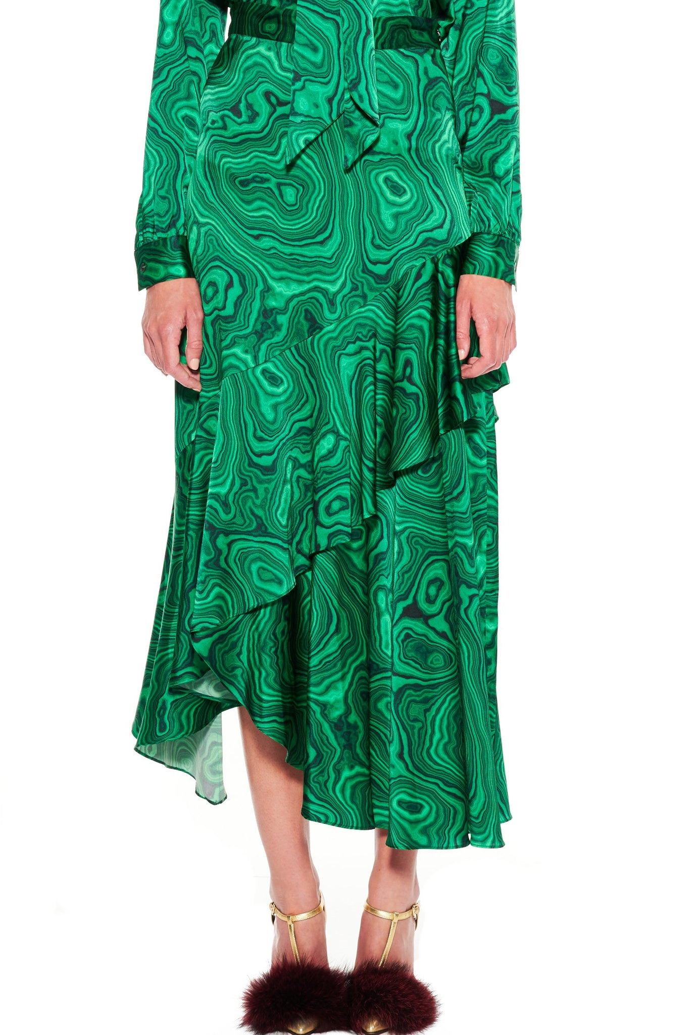 'HIGH AS A MALACHITE' ASYMMETRICAL SKIRT - Women's Bottoms - Libertine
