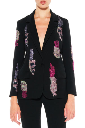 """TEAR YOUR HEART OUT"" LONG BLAZER - Women's Jackets & Coats - Libertine"