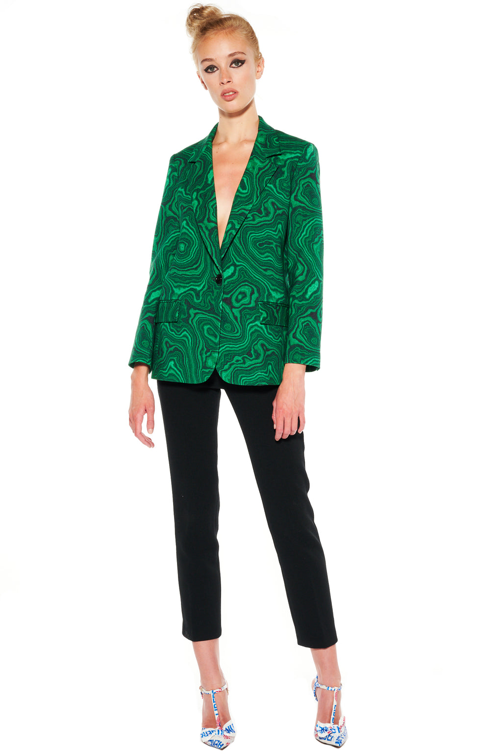 """HIGH AS A MALACHITE"" LONG BLAZER - Women's Jackets & Coats - Libertine"