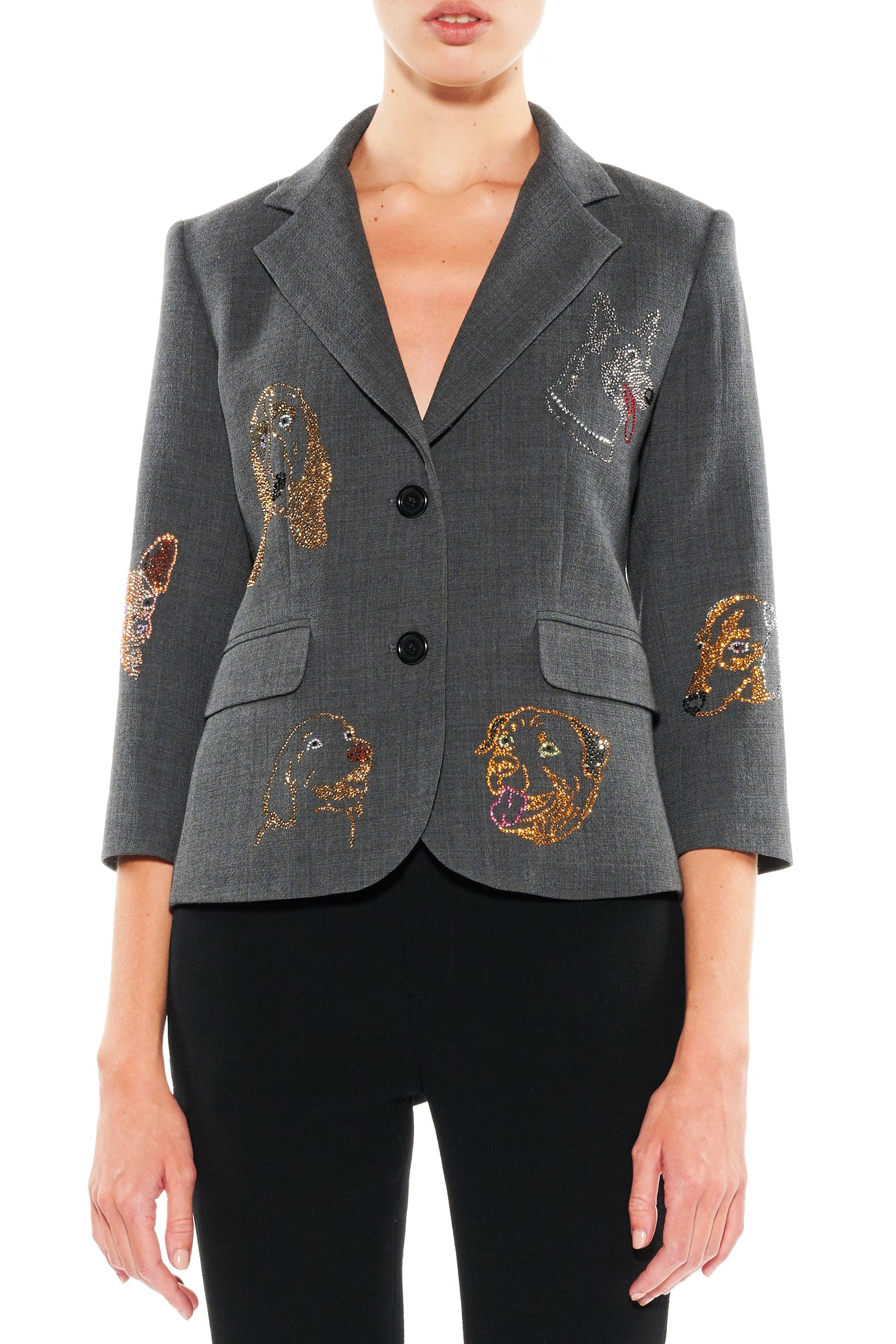 """WHO LET THE DOGS OUT"" BLAZER - Women's Jackets & Coats - Libertine"