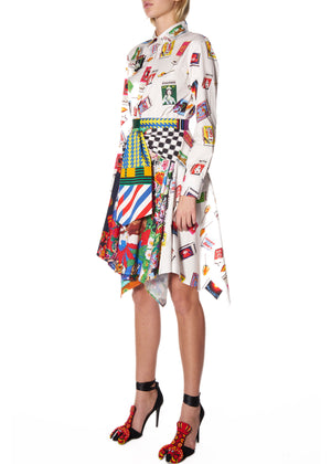 MIXED PRINT HANDKERCHIEF SKIRT - Skirts - Libertine