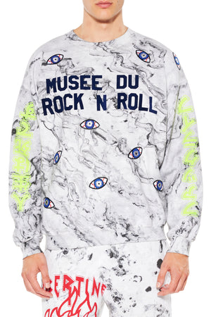 """MUSEE DU ROCK N ROLL"" CREWNECK SWEATSHIRT - Men's Tops - Libertine"
