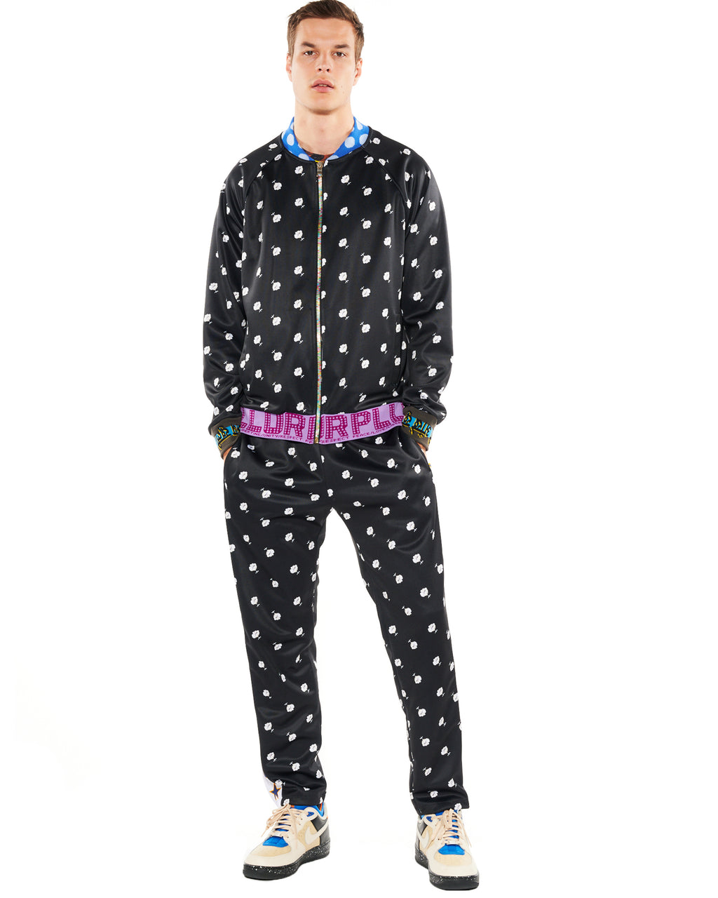 """VICTORIAN MOURNING FLORAL"" TRACK PANTS - Men's Bottoms - Libertine"