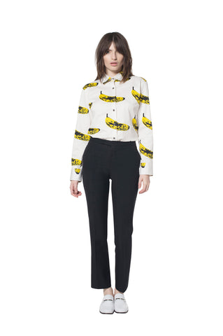 """VELVET BANANA"" COTTON SHIRT - Women's Tops - Libertine"
