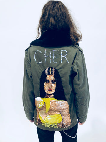 """DO YOU BELIEVE?"" CHER ARMY JACKET - Women's Jackets & Coats - Libertine"