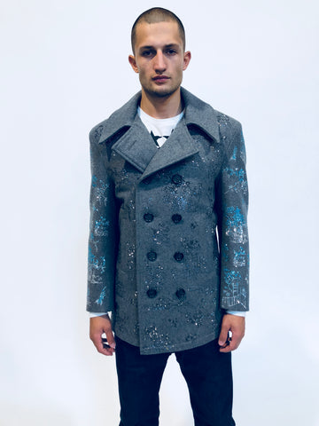 """HONG KONG GARDEN"" CHINOISERIE PEACOAT - Men's Jackets & Coats - Libertine"