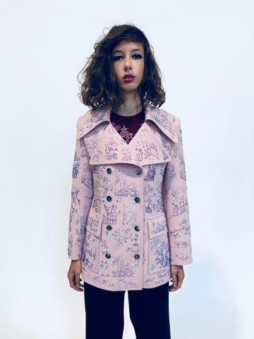 """HONG KONG GARDEN"" PEACOAT - Women's Jackets & Coats - Libertine"