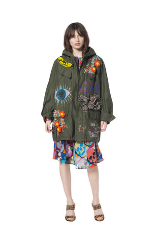 COLLAGE ARMY PARKA - Women's Jackets & Coats - Libertine