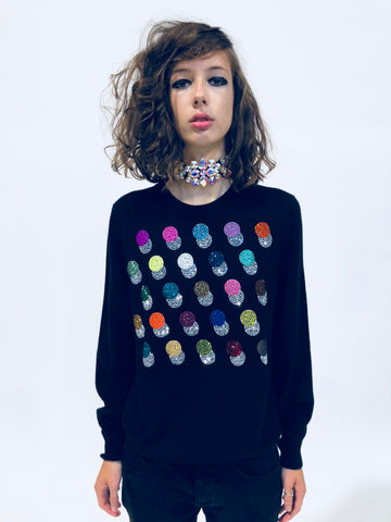 DOTS CREWNECK CASHMERE PULLOVER - Women's Knits - Libertine
