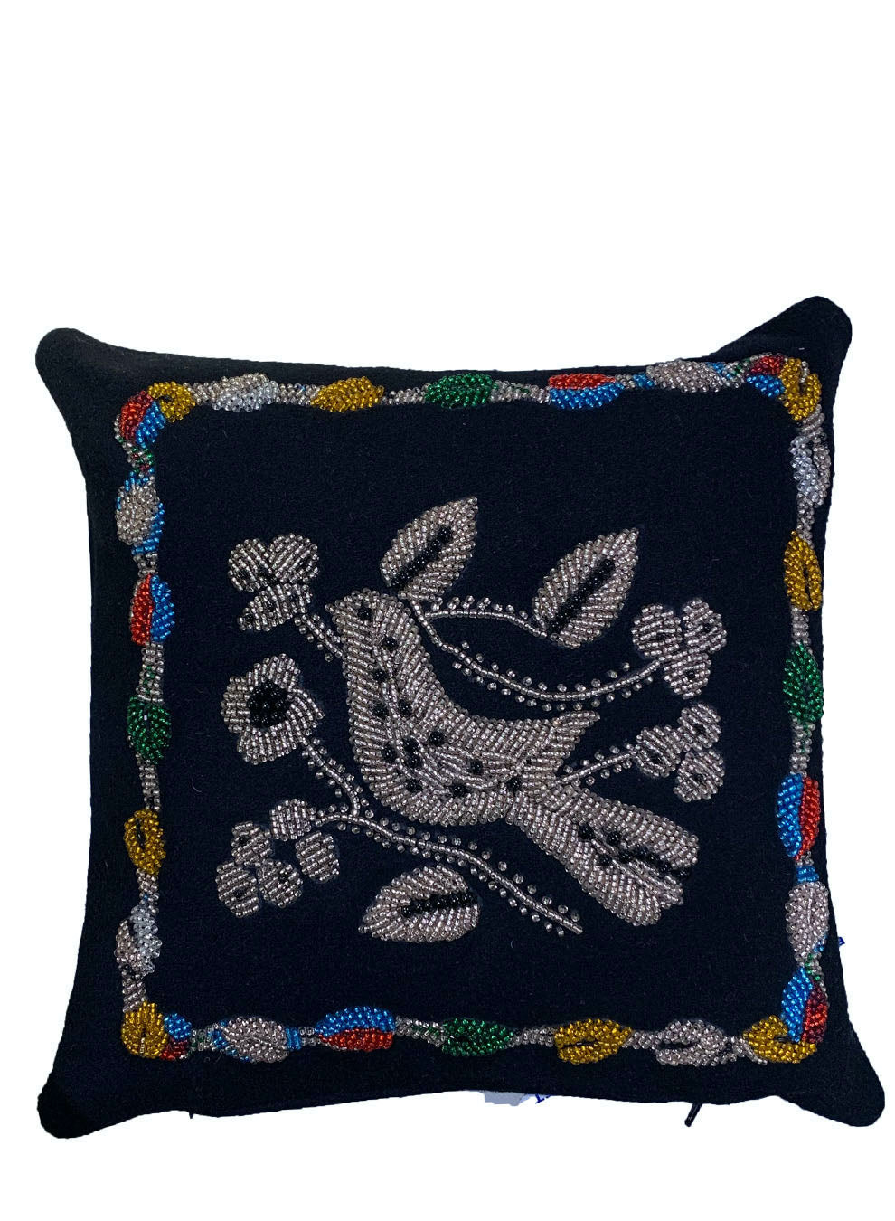 EMBROIDERED BIRDS PILLOW - Web Exclusives - Libertine