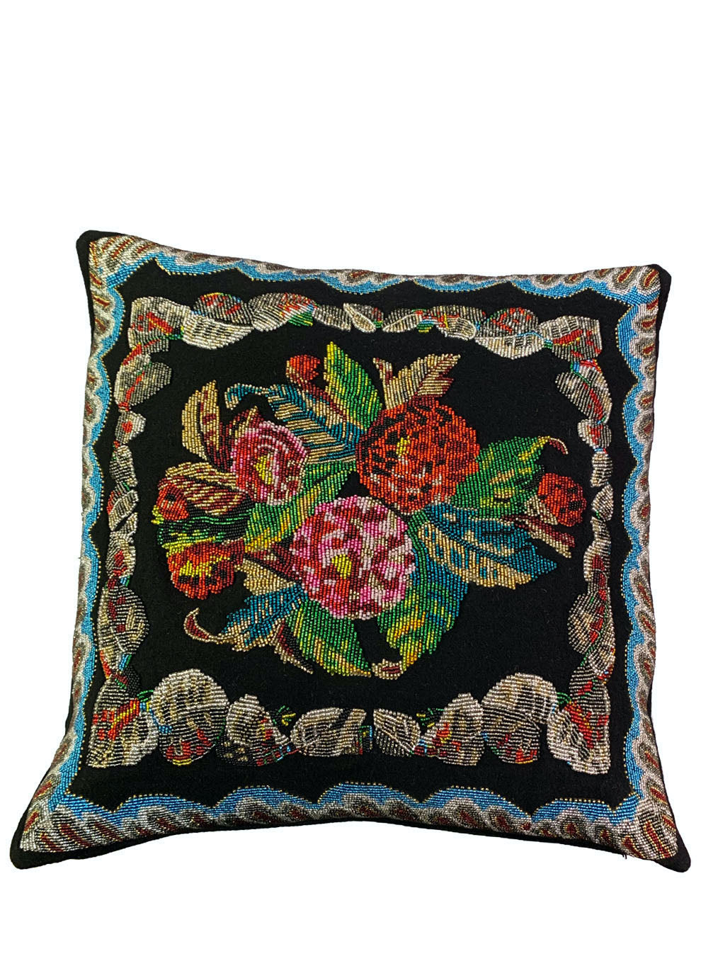 EMBROIDERED FLORAL PILLOW - Web Exclusives - Libertine