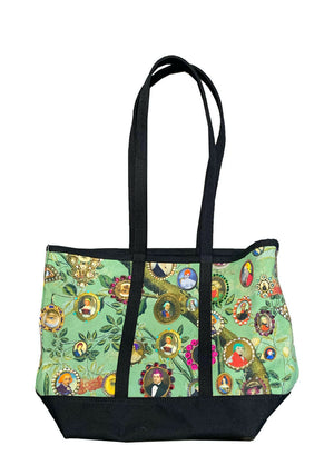 LOVER'S EYES CANVAS TOTE BAG WITH CRYSTALS - Web Exclusives - Libertine