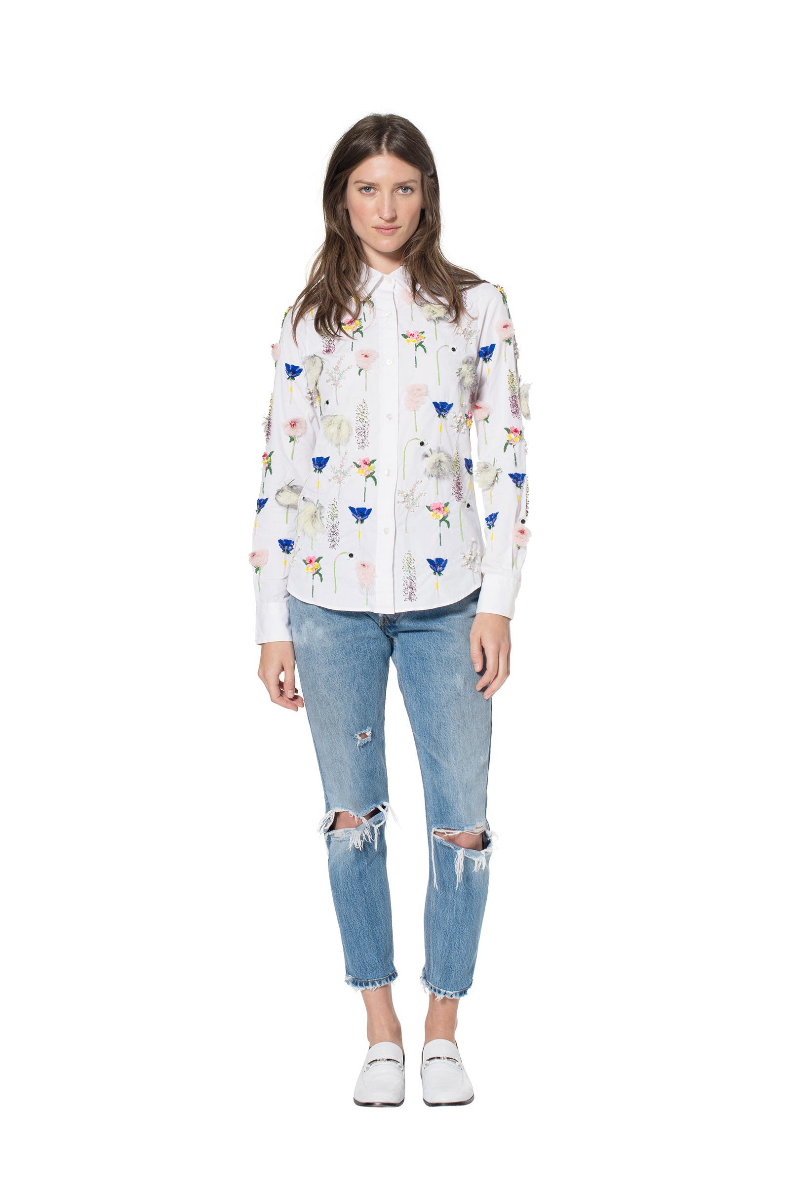 """SISSINGHURST"" COTTON SHIRT - Women's Tops - Libertine"