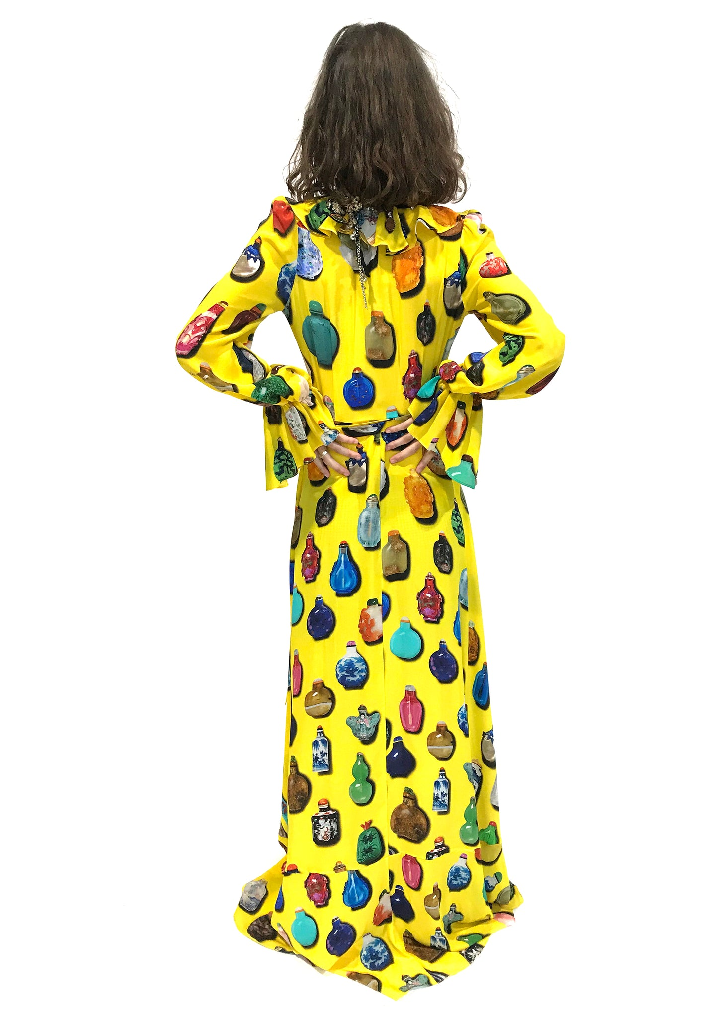 """SNUFF BOTTLES"" WRAP DRESS - Women's Dresses - Libertine"
