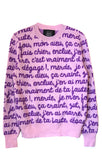 FRENCH CUSS WORDS CREWNECK CASHMERE PULLOVER -  - Libertine
