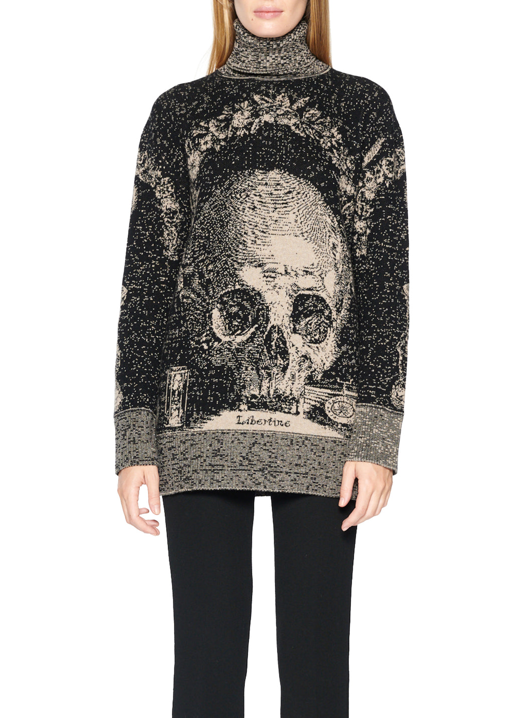 'MEMENTO MORI' CASHMERE TURTLENECK SWEATER - Women's Knits - Libertine