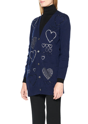 'HEARTS' CASHMERE CARDIGAN - Women's Knits - Libertine