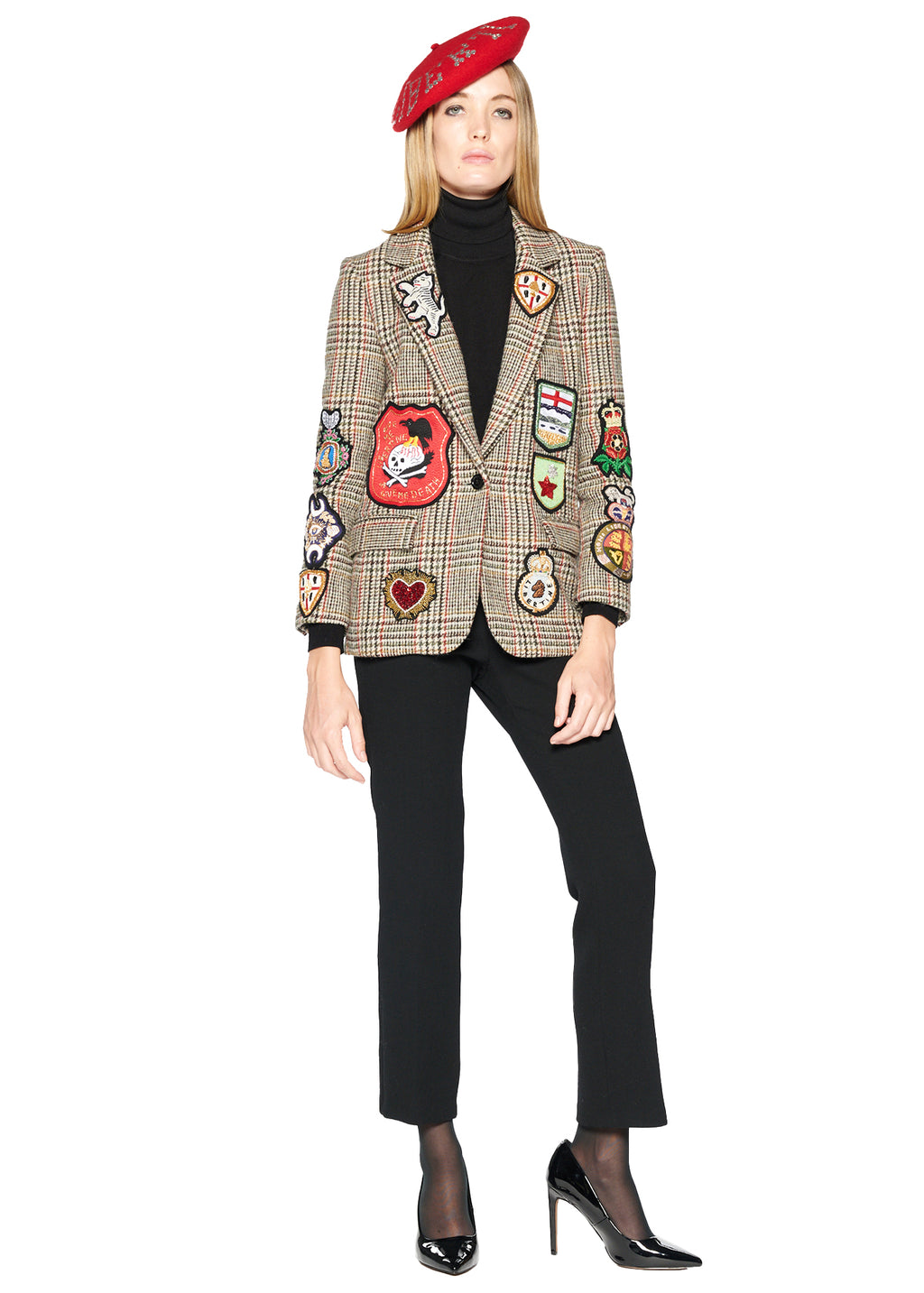 Autumn Plaid Long Blazer - Women's Jackets & Coats - Libertine