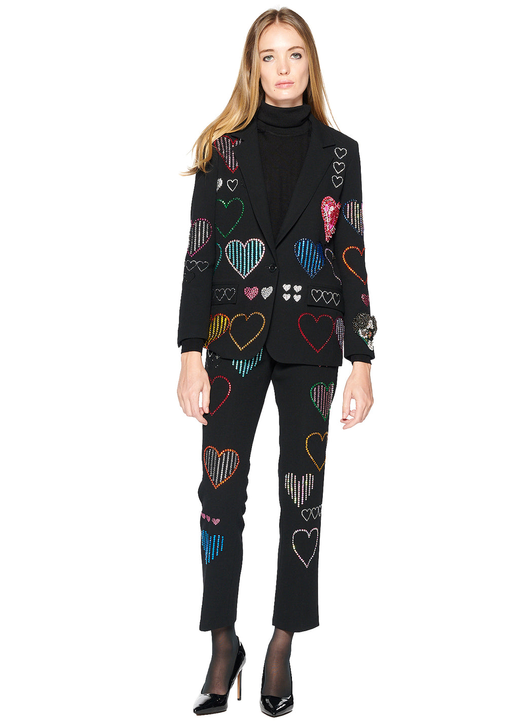 'HEARTS' LONG BLAZER - Women's Tops - Libertine