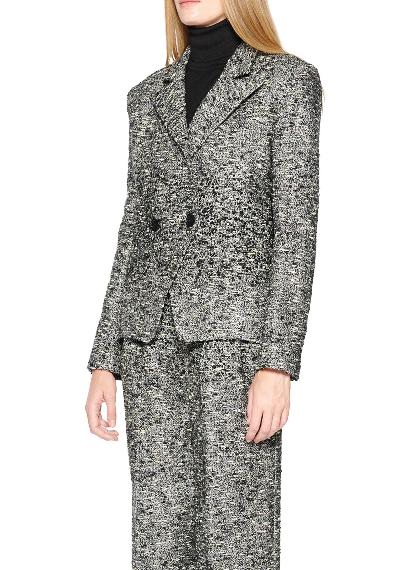 SPARKLE TWEED DOUBLE BREASTED BLAZER WITH CRYSTALS - Women's Jackets & Coats - Libertine
