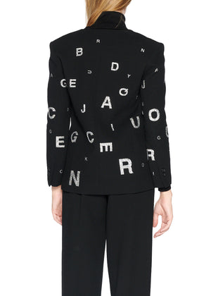 'EYE TEST' V-NECK BLAZER - Women's Jackets & Coats - Libertine
