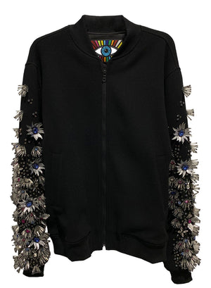 SPIKY FLOWERS BOMBER JACKET - Men's Jackets & Coats - Libertine