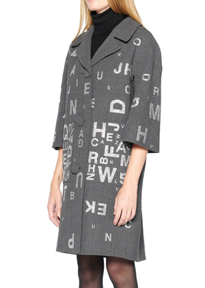 'EYE TEST' PATCH POCKET COAT - Women's Jackets & Coats - Libertine
