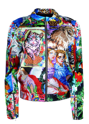 ''TAPESTRY'' MOTO JACKET - Women's Jackets & Coats - Libertine
