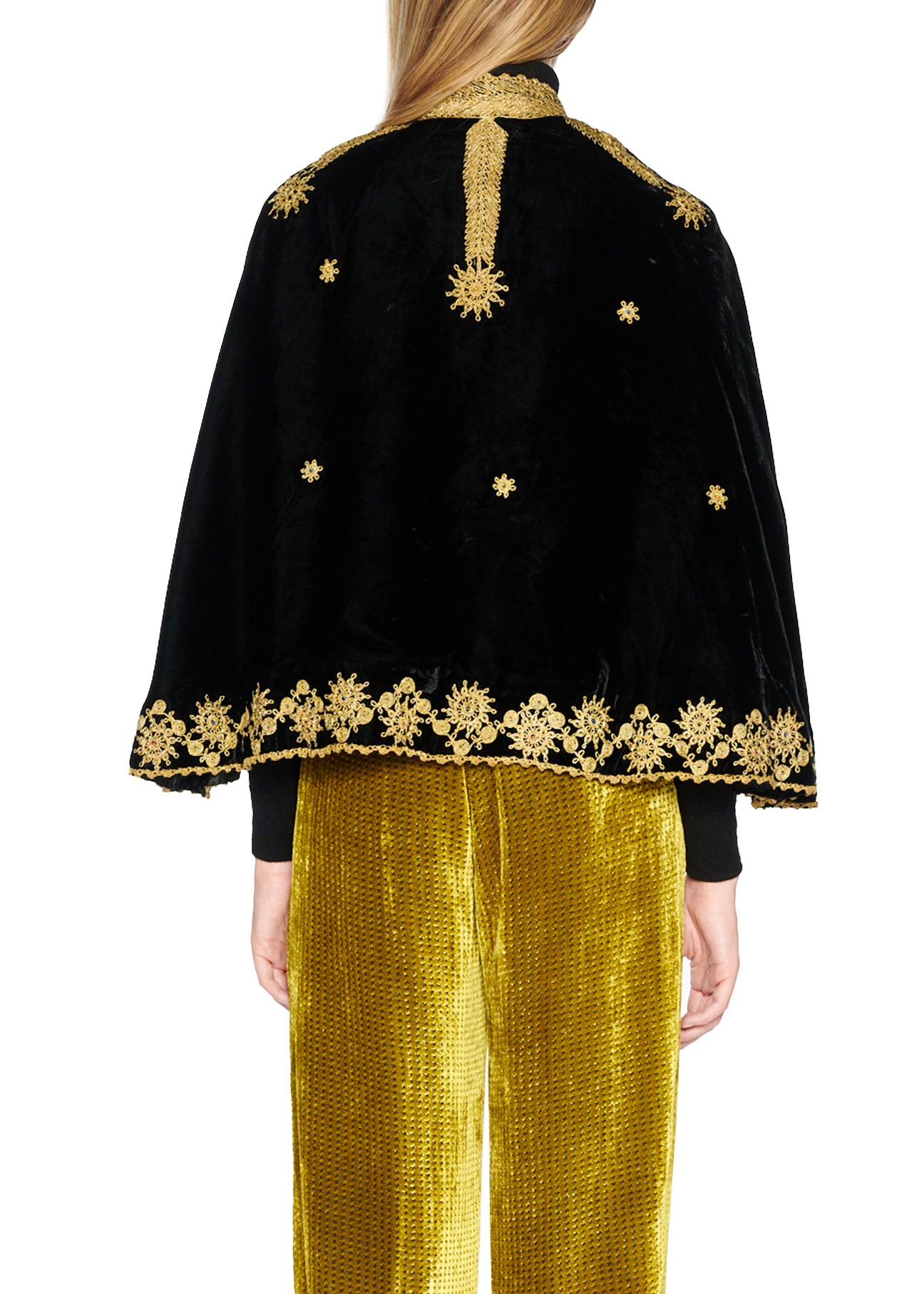 BLACK & GOLD 'MARRAKECH' CAPELET - Women's Jackets & Coats - Libertine