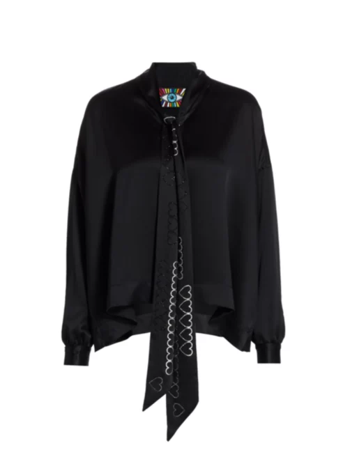 Hearts Tie Blouse - BLOUSE - Libertine