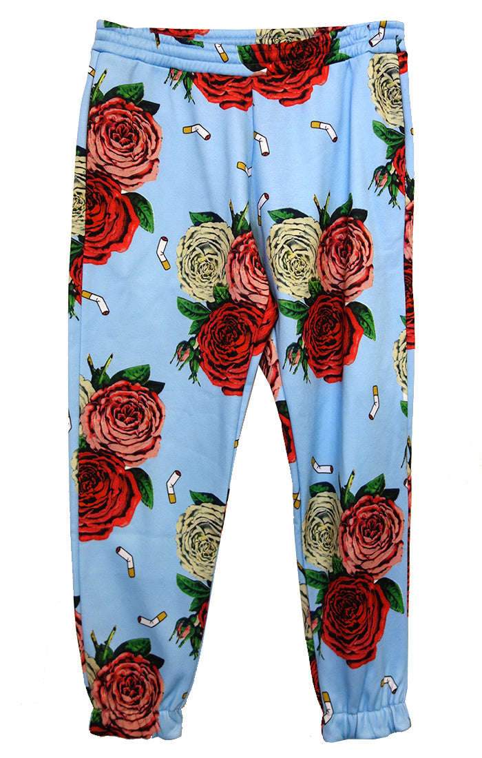 """Cigarettes And Flowers"" Sweatpants - Women's Jackets & Coats - Libertine"