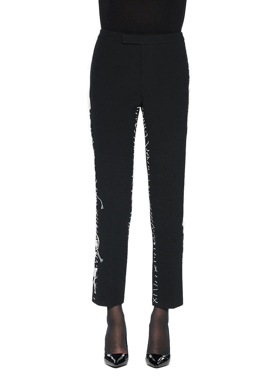 NARROW PANTS WITH 'TROMPE L'OEIL' STITCHES - Women's Bottoms - Libertine