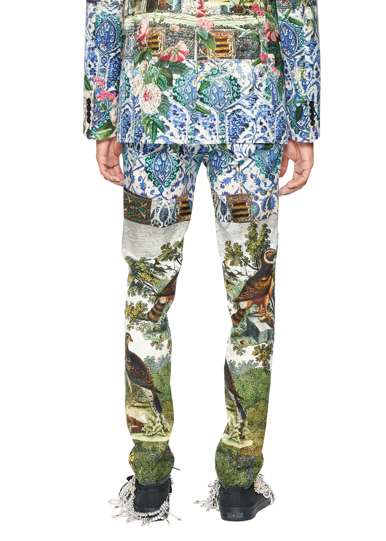 'Ottoman Empire Birds' Trousers - Men's Bottoms - Libertine