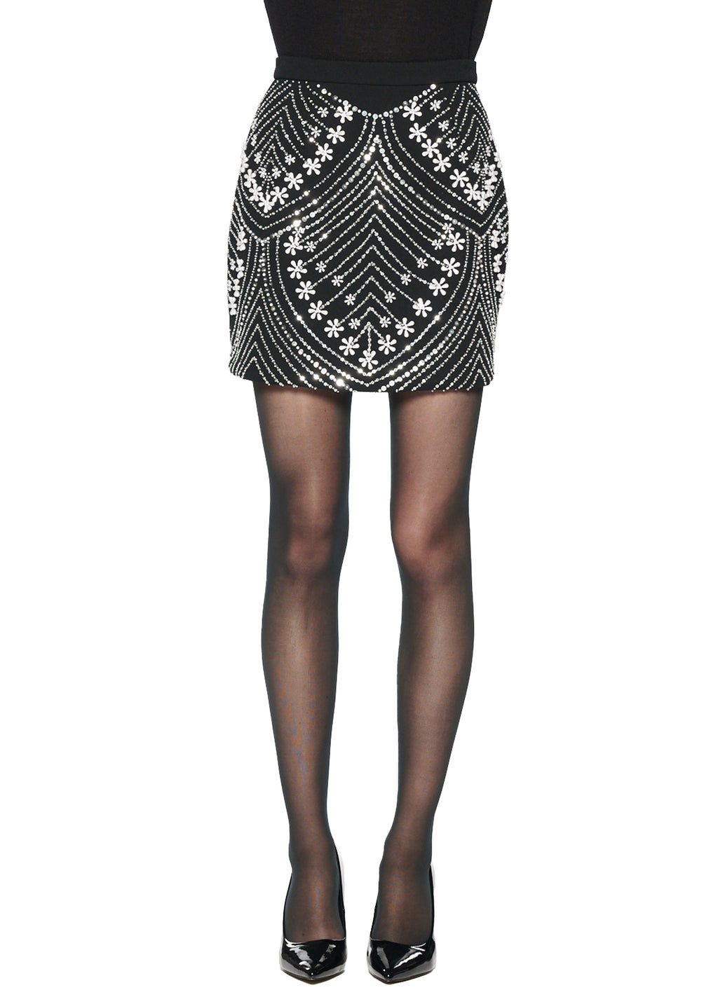 'Chevron' Pearls Skirt - Women's Bottoms - Libertine
