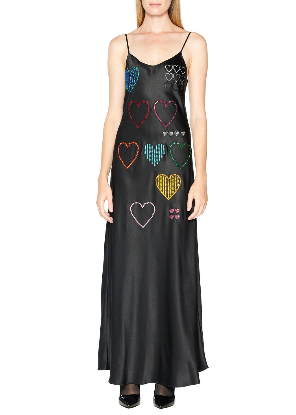 'HEARTS' Long Slip Dress - Women's Dresses - Libertine