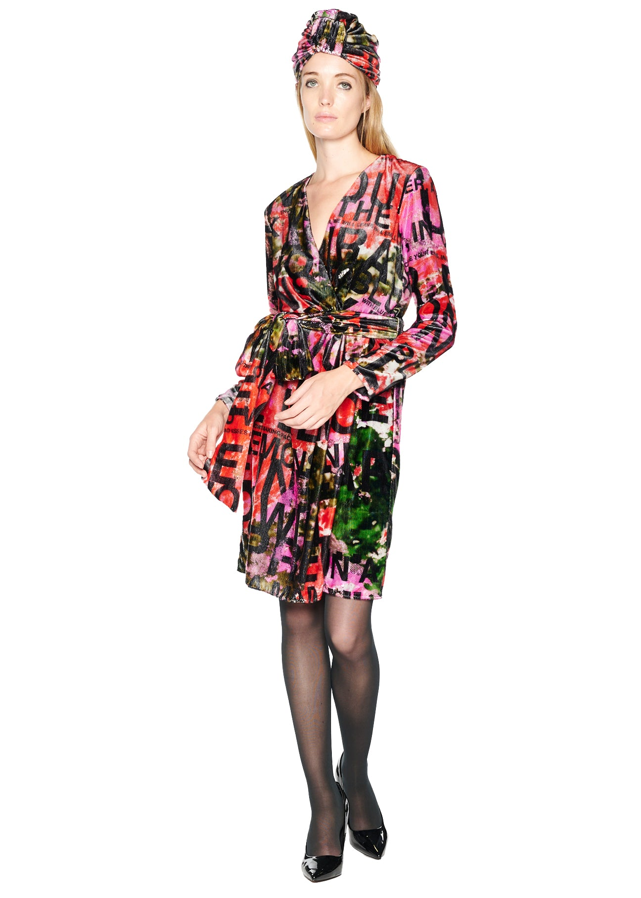 'A DREAM FOR WINTER' FAUX WRAP COCKTAIL DRESS - Women's Dresses - Libertine