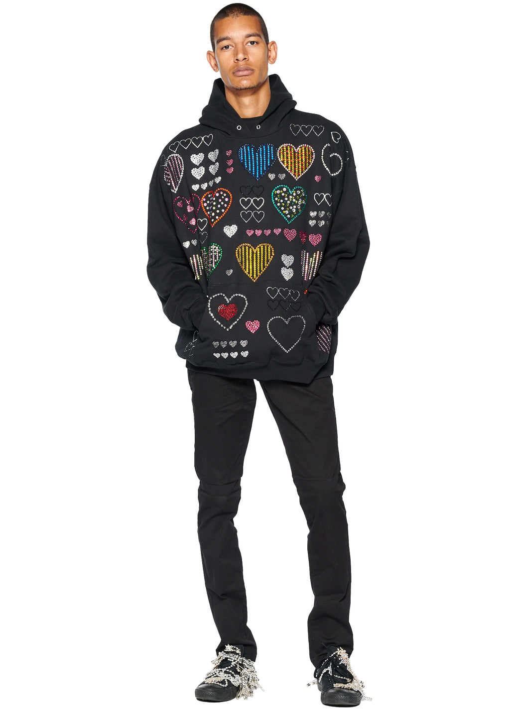 BLACK HEARTS HOODIE - Men's Jackets & Coats - Libertine