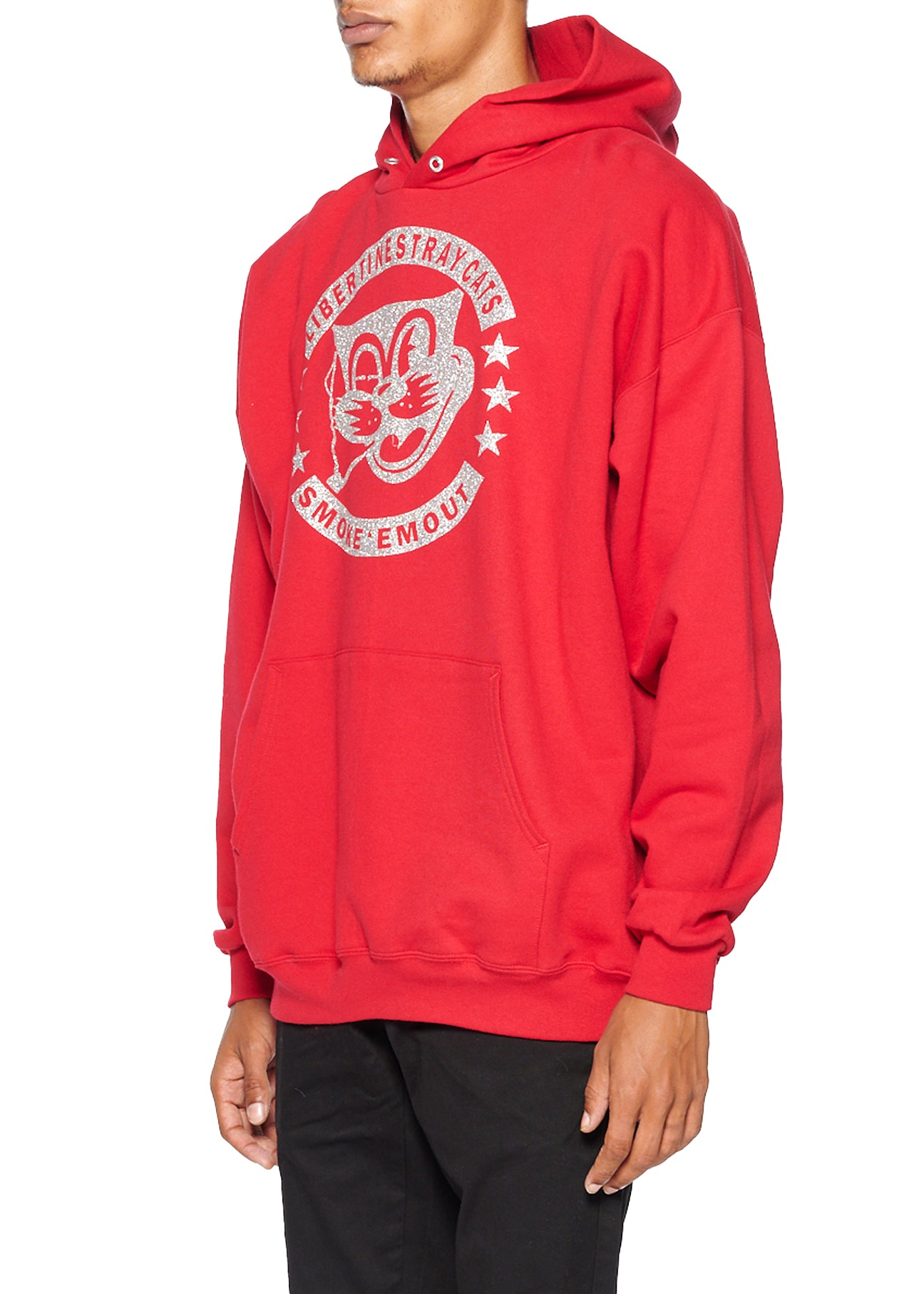 'STRAY CATS' HOODIE PULLOVER SWEATSHIRT - Men's Jackets & Coats - Libertine