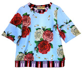 """Cigarettes And Flowers"" Cropped Sweatshirt - Women's Tops - Libertine"