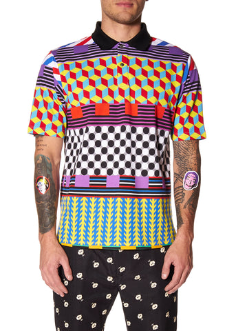 """GEOMETRIC"" POLO SHIRT - Men's Tops - Libertine"