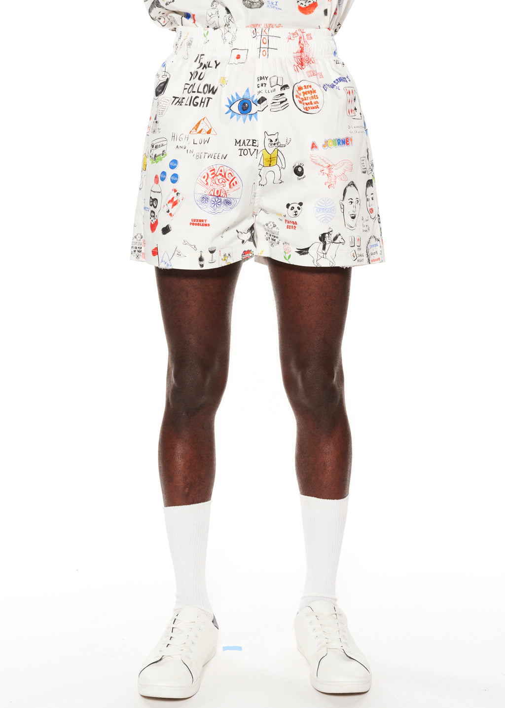 """Marlene's Graffiti"" Short Shorts - Men's Bottoms - Libertine"
