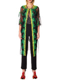 GREEN SEQUIN TULLE ROBE - Women's Jackets & Coats - Libertine