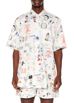 """Marlene's Graffiti"" Short Sleeve Classic Shirt - Men's Tops - Libertine"