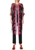 PINK SEQUIN TULLE ROBE - Women's Jackets & Coats - Libertine