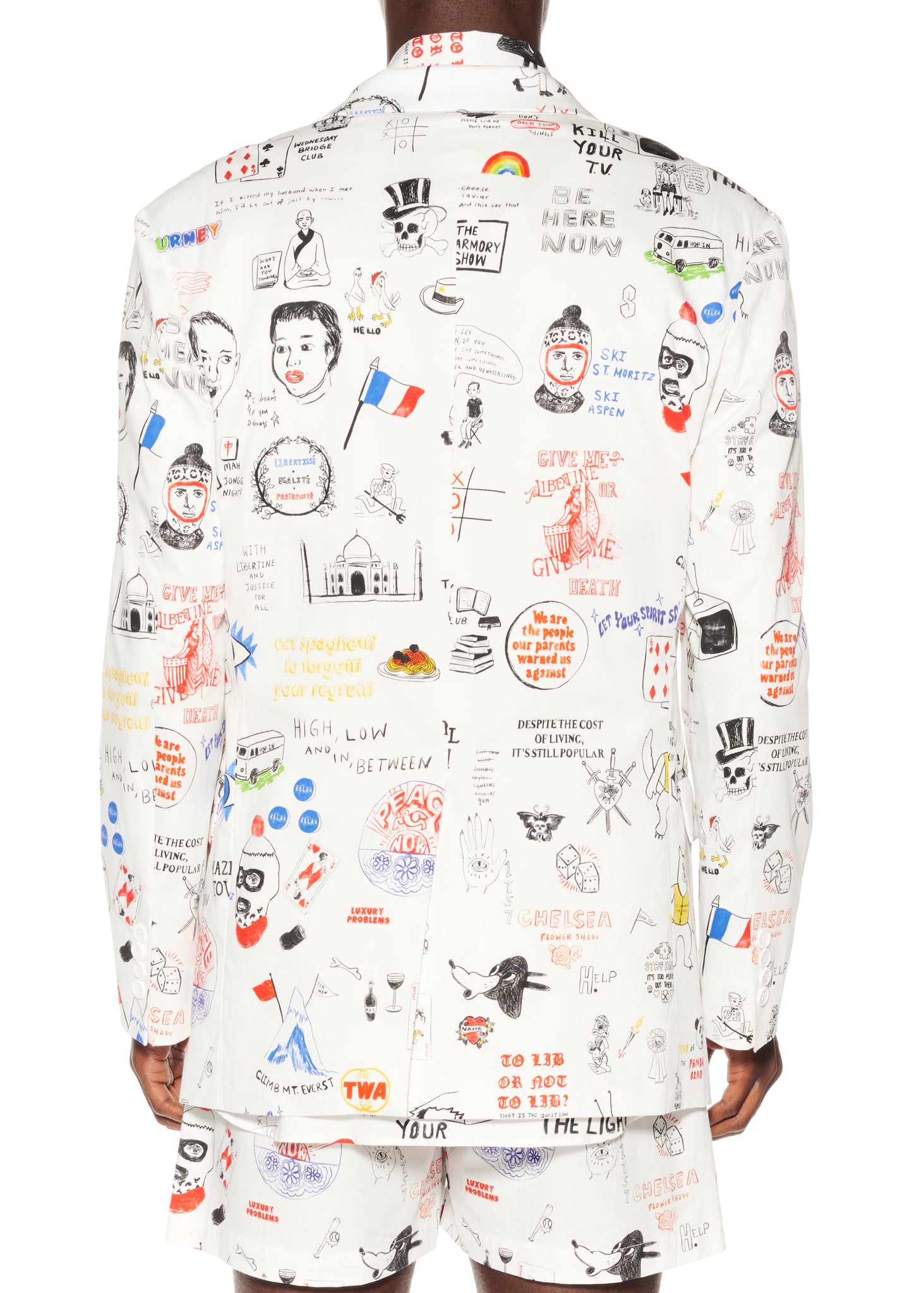 """Marlene's Graffiti"" Suit Jacket - Men's Jackets & Coats - Libertine"