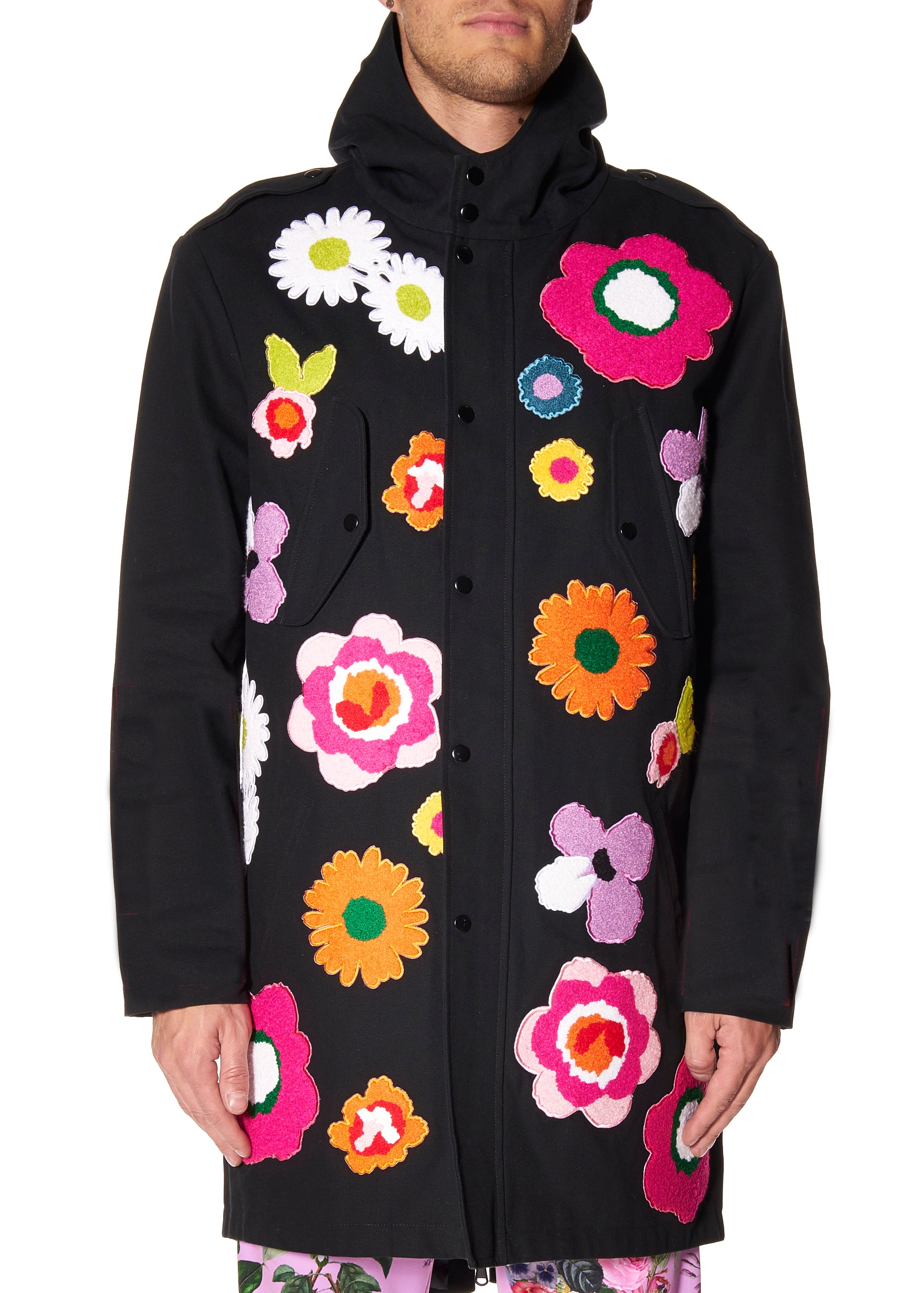 """POP FLOWERS"" PARKA - Men's Jackets & Coats - Libertine"