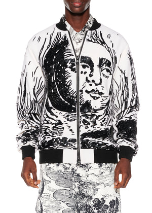 "Paillette ""Modern Toile"" Bomber Jacket - Men's Jackets & Coats - Libertine"