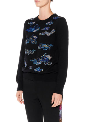 CLOUDS CREWNECK CASHMERE PULLOVER - Women's Knits - Libertine